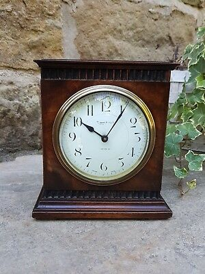 A small Walnut mantel clock by Mappin & Webb - circa 1880 French movement