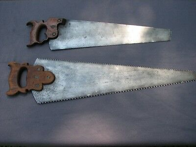 Collectible Disston #12 Dated Panel Saw  & Warrented Cross Cut Rip Combo
