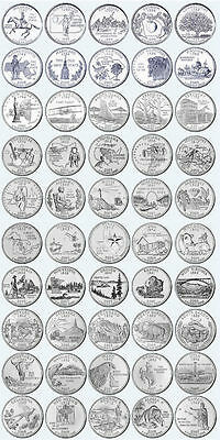 PICK ANY OF THE 50 US STATE QUARTERS P or D mint - UNCIRCULATED