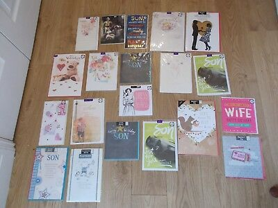 Bn Bundle 40 Greetings Cards Birthday Fathers Day Valentines