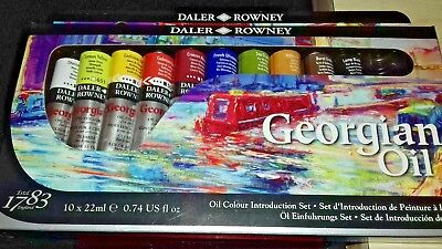 daler-rowney georgian oil colours 10 x 22ml