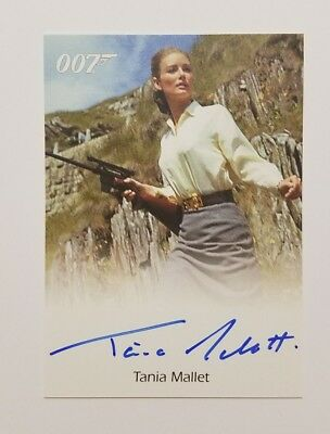James Bond 007 Goldfinger Tania Mallet as Tilly Mallet Auto Signed Card