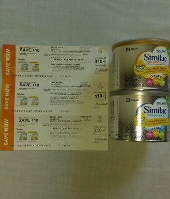 My Name On $30 Worth Of Similac Savings Coupons W/2 Bonus Cans Of Formula