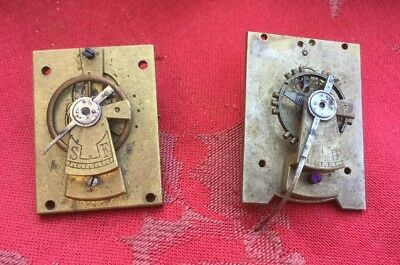 2 Large Platform Escapement For Antique Clocks Carriage Fusee Etc