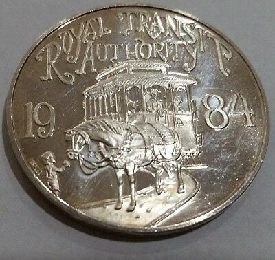 Very Rare: 1984 Krewe Of Rex 1 Troy Oz. .999 Fine Silver Doubloon