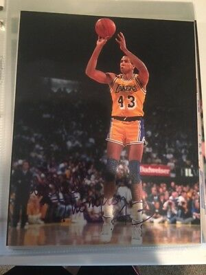 dfba46f4 Mychal Thompson Hand Signed Autographed 8x10 Photo Los Angeles Lakers NBA