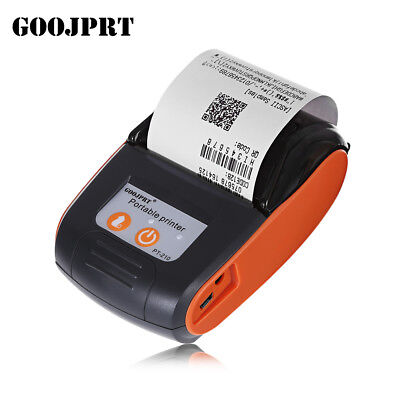 GOOJPRT PT - 210 ESC/POS 58MM Mini Bluetooth Thermal Printer 50 - 89.9mm/s Speed