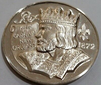 Very Rare: 1969 Krewe Of Rex 1 Troy Oz. .999 Fine Silver Doubloon