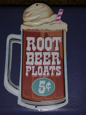 root beer floats restaurant style wall sign