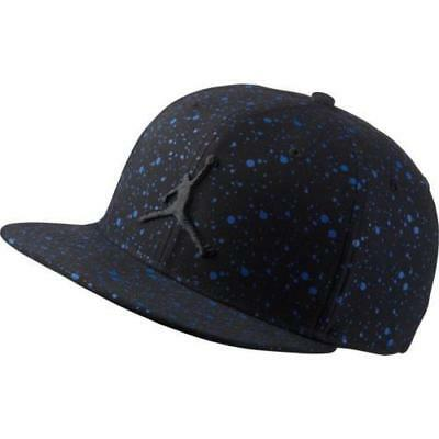 Nike Air Jordan Speckled Snapback Hat Black Jumpman 821830 015 Speckle Fly 62d10b293470