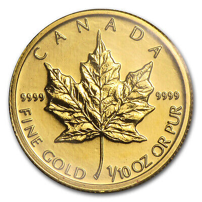 2004 Canada 1/10 oz Gold Maple Leaf BU - SKU#87696