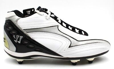 Warrior Burn Series by New Balance White and Black Lacrosse Cleats- Size 9D