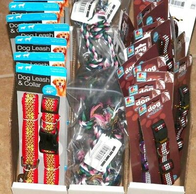 30+ Piece Dog Collar Lot Mixed Colors For Medium to Large Dogs