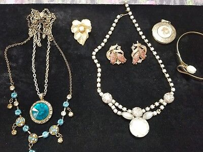 Lot of vintage antique jewelry GRANDMA'S estate Rhinestone (See Pictures) Lot 61