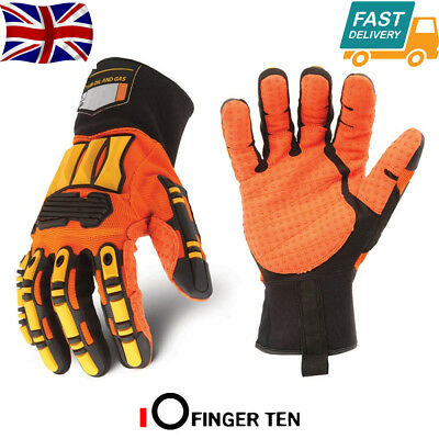 Oil Work Gloves Ironclad Kong Impact Protection Hi Vis Oil & Gas Industry 1 Pr