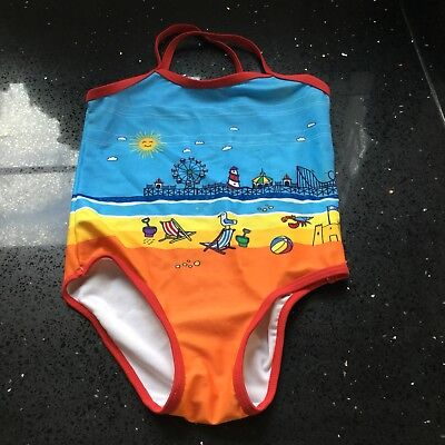 Little Bird Mothercare Jools Oliver beach scene swimsuit, age 4-5