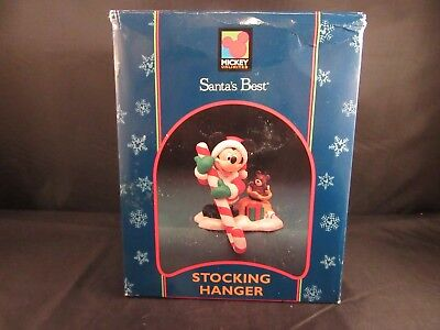 Vtg Disney Santa's Best Stocking Holder Mickey Mouse w/Box and Packing Material