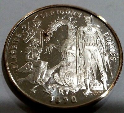 Very Rare: 1970 Krewe Of Rex 1 Troy Oz. .999 Fine Silver Doubloon