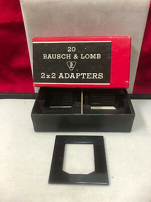 BAUSCH AND LOMB 2X2 ADAPTERS FOR CARDBOARD MOUNT 35mm 20 per box for 2 1/4x2 1/4