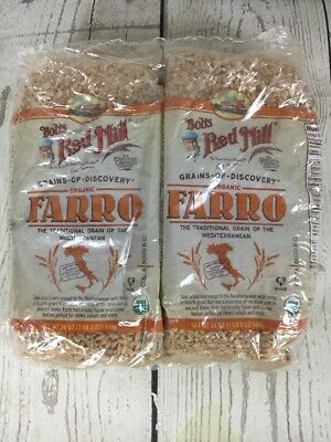 Bob's Red Mill Organic Farro Two 24oz Bags Grains Of Discovery