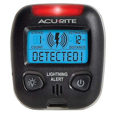 Acurite Lightning Detector Alert Model 02039 Strike Warning 25 Mile Radius