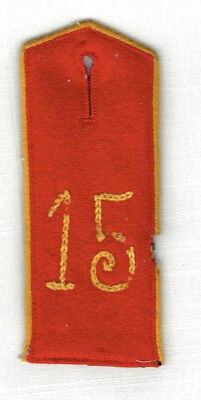 WWI GERMAN SHOULDER BOARD - 15th Ulan Regt, EM