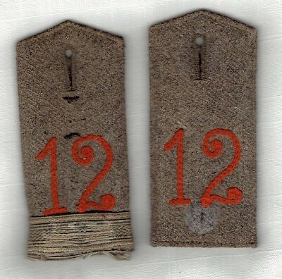 WWI GERMAN SHOULDER BOARDS - 12th Grenadier Regt, EM