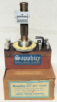 Sapphire Off-Set Head & Accessories for the Arrow Sapphire Faceting Machine