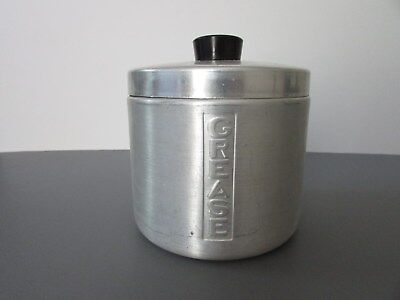 Vintage Aluminum Grease Canister With Strainer, Made in U.S.A.