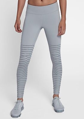 NIKE POWER EPIC Lux Run Flash Reflective Tights Running Grey