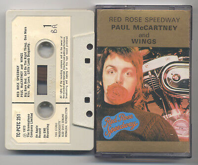 PAUL McCARTNEY WINGS Red Rose Speedway 1973 APPLE Paper Labels
