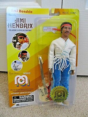 "2018 MEGO JIMI HENDRI 8"" Marty Abrams Presents 8414/10000 Music Icon In Hand"