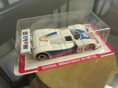"VINTAGE DIECAST CAR TOY ""GUISVAL"" MADE IN SPAIN. 80's Old new stock."