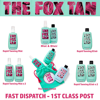 The Fox Tan - RAPID MIST - RAPID ELIXIR - COMPLETE FOX PACK - THE TRIPLE THREAT