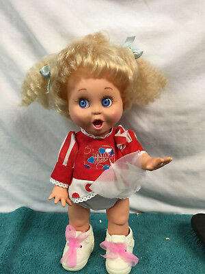 So Suprised Susie dress, diaper, shoes Baby Face Galoob 1990 - #2 Blue Eyes