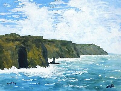 Original Irish Paintings,Irish Art,Cliffs of Moher,Co Clare,by Gerry Dillon.