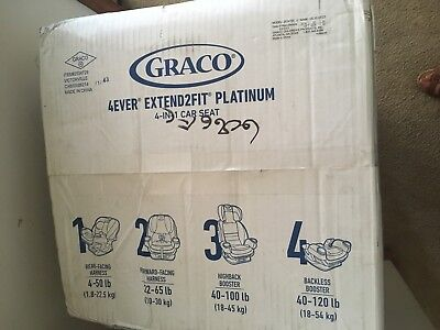 Graco 4Ever Extend2Fit Platinum 4 In 1 Convertible Car Seat Hayden