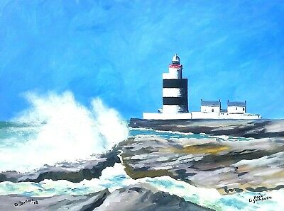 Original Irish Paintings,Hook Lighthouse,Irish Art,by Gerry Dillon.