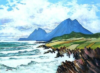 Original Irish Paintings,Irish Art,Achill Island,Co Mayo,by Gerry Dillon.