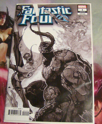 FANTASTIC FOUR #1 - Venomized Party Sketch B&W Variant Cover - 1 per store Venom