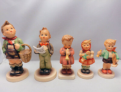 Lot Of 5 Goebel Hummel Figurines See Photos And Description For All Details