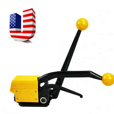 """Manual Sealless Steel Strapping Tool Device strapping width 1/2""""-3/4"""" 13-19MM US"""