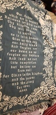 The Lord's Prayer Blanket Throw  Inspirational Scripture Bible USED
