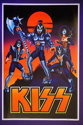 Kiss Band Gene Simmons Ace Frehley Paul Stanley Peter Criss Cartoon Poster 24X36