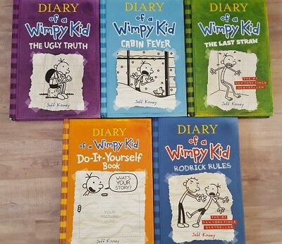 Lot of 6 diary of a wimpy kid hardcover books 1491 picclick lot of 5 diary of a wimpy kid hardcover solutioingenieria Gallery