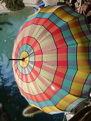 1950's vintage stained glass pattern UMBRELLA