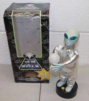 "Rare!! 11"" Vtg 1996 GEMMY ""Ask The Alien"" ANIMATED FIGURE (w/box)"