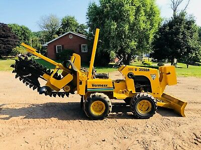 Vermeer 3550A Trencher Dozer Blade Diesel Bob Cat Side To Side Sliding Power 4X4