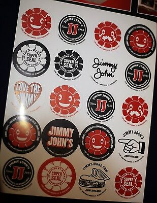 Jimmy Johns store stickers and table topper