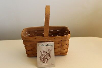 Longaberger 1989 Candle Basket, Plastic Protector and Product Card